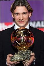 Андрий Шевченко носител на златната топка